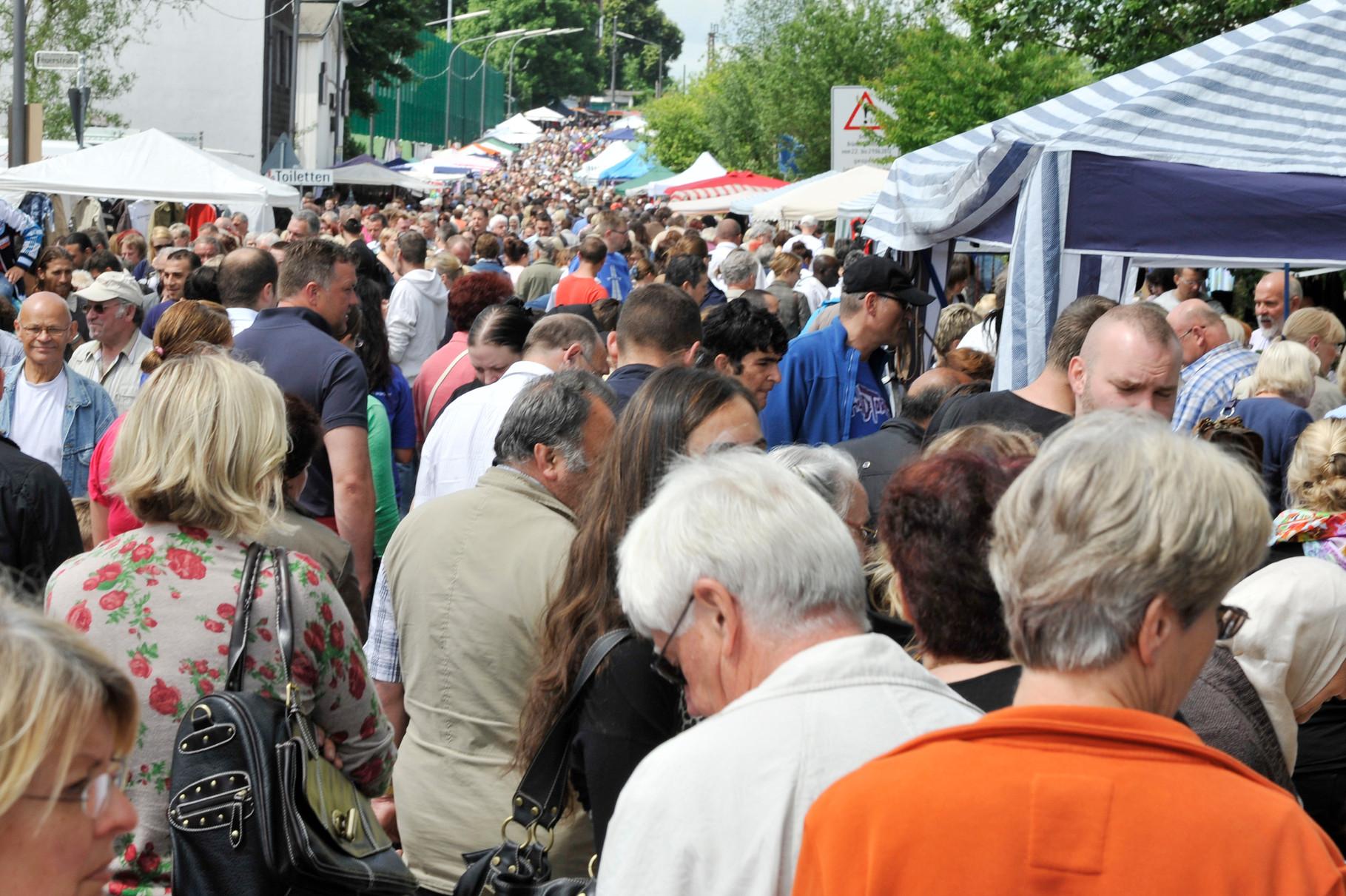 Menschenmenge auf dem Bleicherfest
